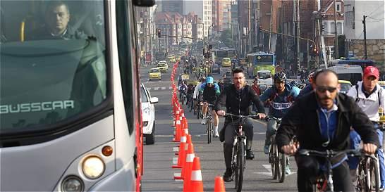 En el día sin carro reinó la bicicleta, pero hubo demora en los buses