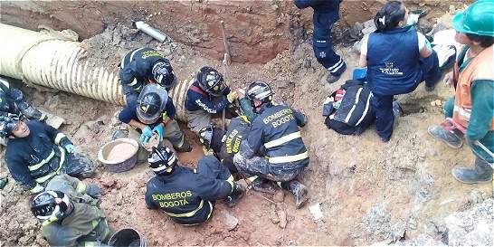 Deslizamiento sepultó a grupo de obreros en el sur de Bogotá