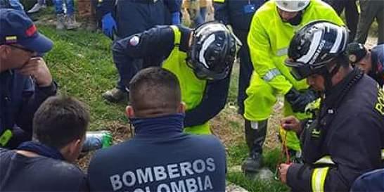 Con dron reanudan búsqueda de cuerpo de Juan Sebastián en Soacha