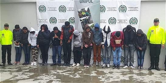 Capturan a 14 personas dedicadas al microtráfico en Soacha