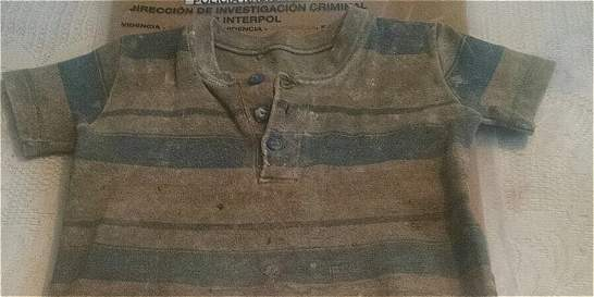 Fiscalía dice que camiseta hallada pertenecía al niño Juan Sebastián