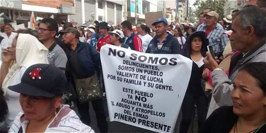 Las razones de las protestas de vendedores ambulantes en Bogotá