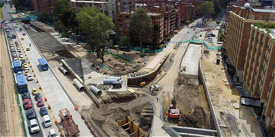 Bogotá tiene varias obras atrasadas por falta de recursos