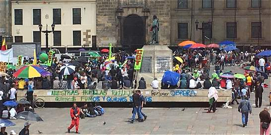 Así transcurrió la jornada de paro en Bogotá