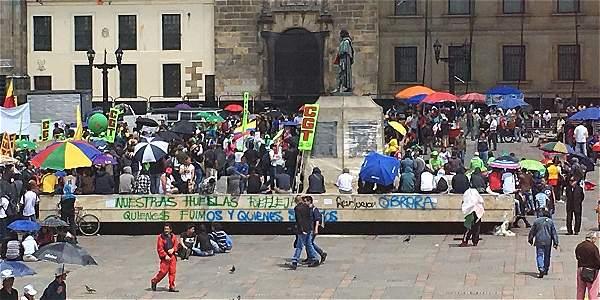Manifestaciones por el paro nacional en Bogotá