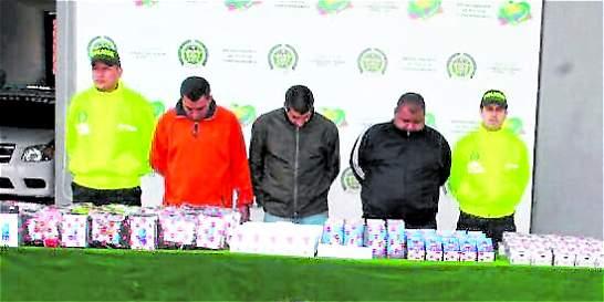 Policía capturó banda que hurtó 231 celulares de alta gama