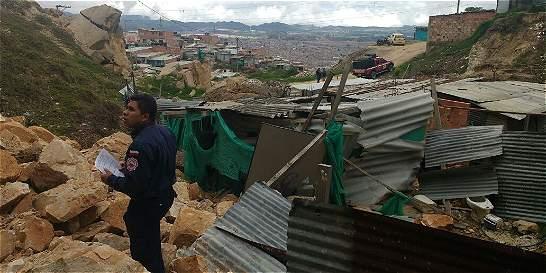 Deslizamientos afectaron dos viviendas en Soacha