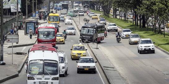 Así está la velocidad de 5 vías de Bogotá