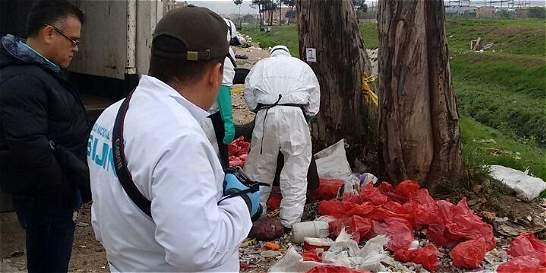 Hallan 500 kilos de residuos hospitalarios abandonados en Kennedy