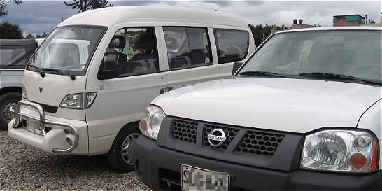 Los carros de placa blanca siguen aumentando en Bogotá