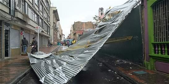 Emergencias por fuertes vientos en el oriente de Bogotá
