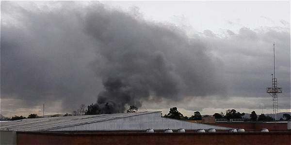 Incendio en la fábrica de embutidos Kassandra, en Fontibón.