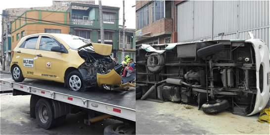 Accidente entre ruta escolar y un taxi dejó siete personas lesionadas