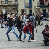 Disturbios en el centro de Bogotá alteran jornada del Día del Trabajo