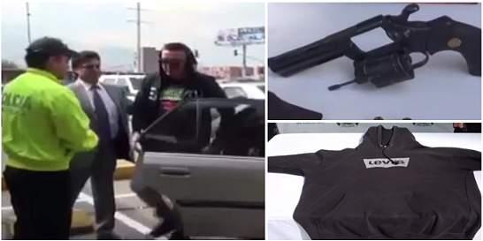 Arma que encapuchado entregó a Policía no es de fuego, sino neumática