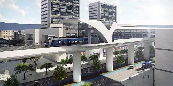 Modelo de metro presentado por la administración de Enrique Peñalosa. Los primeros 15 kilómetros serán elevados.
