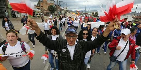 Protestas en Soacha por mal servicio de transporte