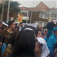 Más de 200 sindicalistas de la ETB protestan en el Concejo de Bogotá