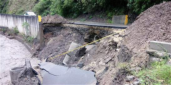 Cinco municipios de Cundinamarca, en alerta por derrumbes
