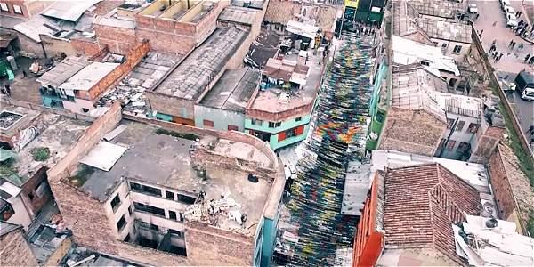Videos: Así intervinieron la calle del 'Bronx' - Videos
