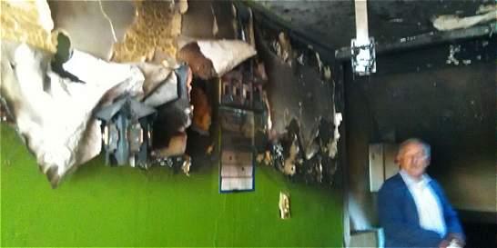 Explota cilindro de gas en tienda del barrio Carvajal de Kennedy