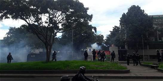 Desde la una de la tarde, protestas en la universidad Pedagógica