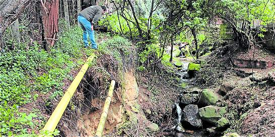 Quebrada El Chicó, en riesgo por captación ilegal de su agua