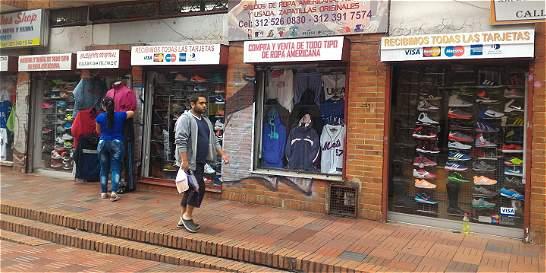 El negocio de la ropa usada en Bogotá