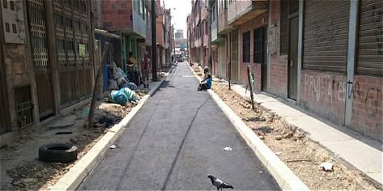 Las calles de Bogotá que llevaban 20 años esperando ser pavimentadas