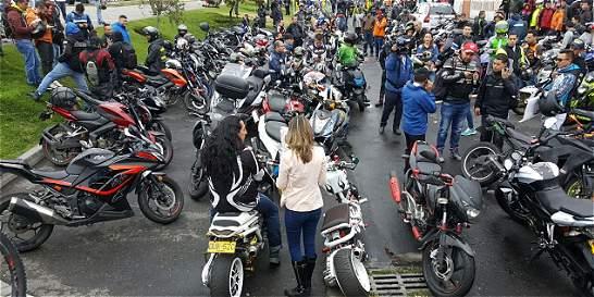Terminó de forma pacífica concentración de motociclistas en Bogotá