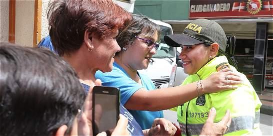 Patrullera de la Policía se convirtió en la heroína de San Cristóbal