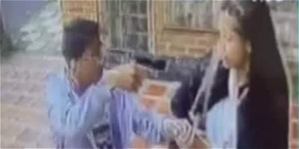 Buscan este ladrón que fue captado en video cuando robaba a una mujer