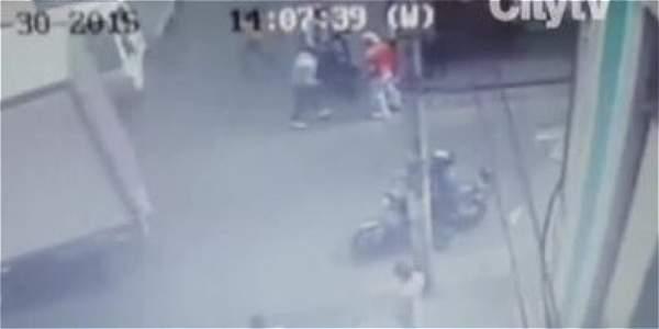 Gracias a un valiente ciudadano cayeron tres personas acusadas de fleteo