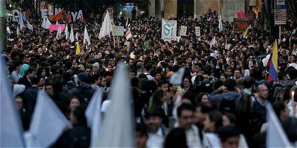 Movilización por la Paz en Bogotá