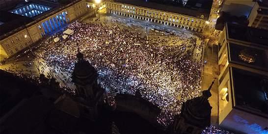 ¡Acuerdo ya!, fue la proclama de la marcha por la paz de Colombia