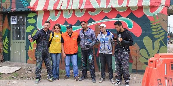 El primer grafiti animado de San Cristóbal sur