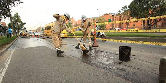 Van 25.000 huecos tapados en Bogotá en los últimos ocho meses