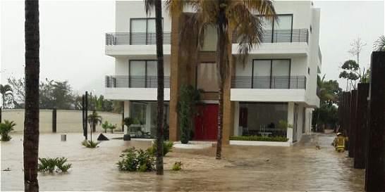 Inundaciones por lluvias en la inspección de Chinauta, Cundinamarca