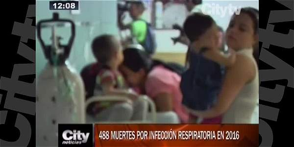 En lo que va del año han muerto 488 menores de 5 años a causa de infecciones respiratorias
