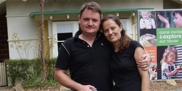 Fernando Manrique y su esposa, María Claudia Lutz Peña.