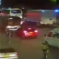 Patrullera atropellada por TransMilenio