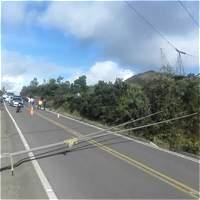 Vientos derribaron cuatro torres de energía en Cundinamarca
