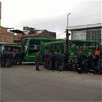 Parálisis en alimentadores y buses del SITP en el sur de Bogotá
