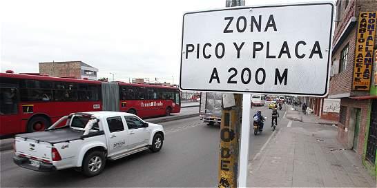 Pico y placa volverá al norte, centro y sur de Bogotá