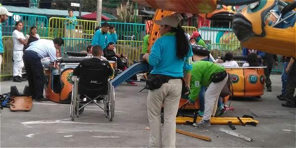 Accidente en el parque Mundo Aventura deja 10 heridos