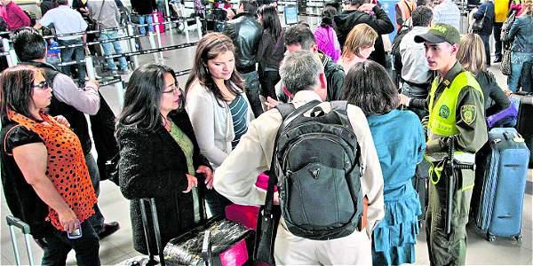Cierre del aeropuerto El Dorado