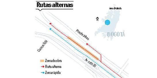 Si va al aeropuerto El Dorado, ojo a un nuevo cierre vial
