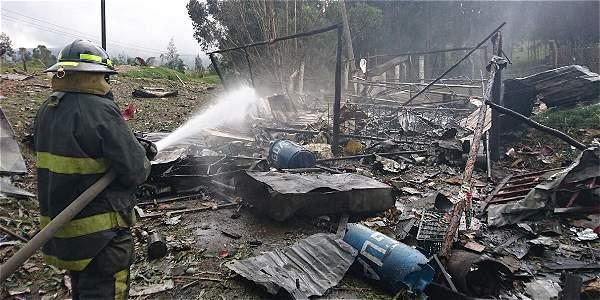 Explosión en polvorería en inmediaciones de Sibaté