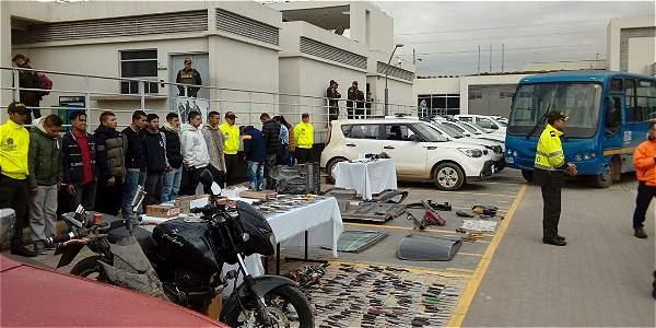 Capturados por la Policía de Cundinamarca, este jueves. Serán judicializados por la Fiscalía.
