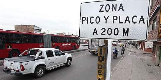 Bogotá levantará medida de pico y placa para este fin de año